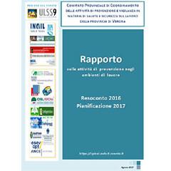 Spisal - pubblicato il resoconto attività 2016 e pianificazione 2017