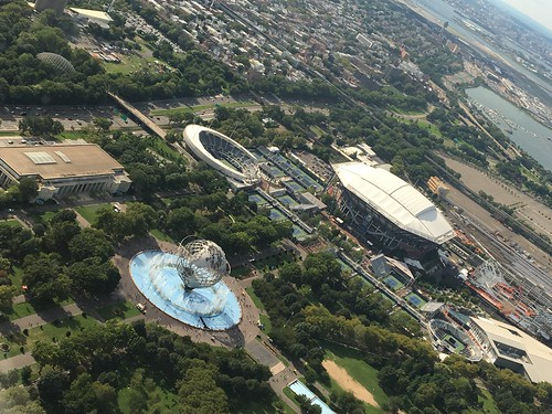nyc newyork newyorkcity summer 2017 airplaneview queens unisphere flushingmeadowspark