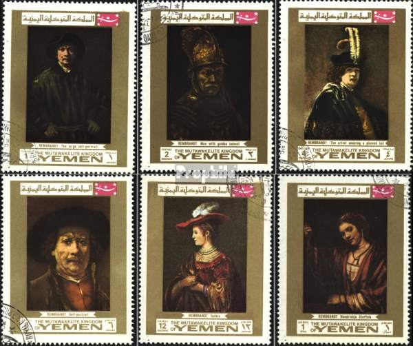 Známky Jemen kráľovstvo 1965 Rembrandtove obrazy razená séria
