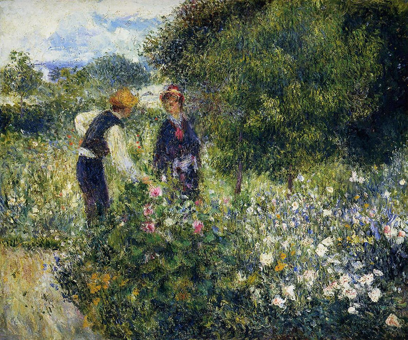 Picking Flowers by Pierre Auguste Renoir, 1875