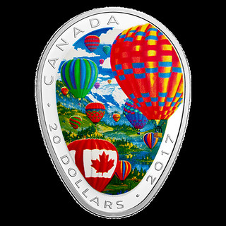 Canada hot air balloon coin