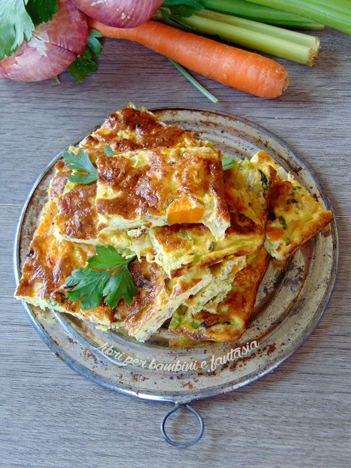 frittata al forno con le verdure del brodo 4