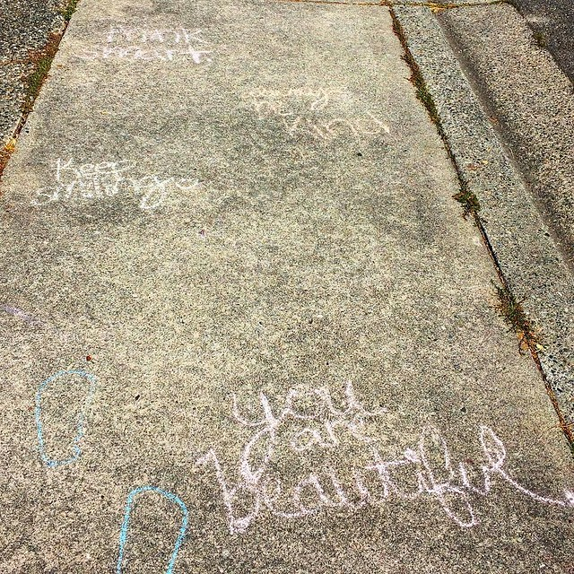 A little sidewalk chalk inspiration 💕