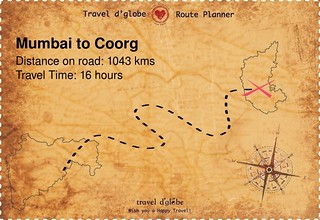 Map from Mumbai to Coorg