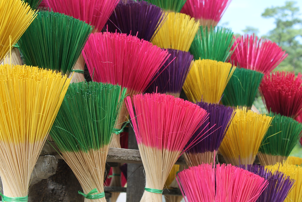 Multicolored incense sticks, Vietnam
