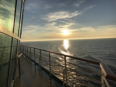 Sunset off the coast of Norway