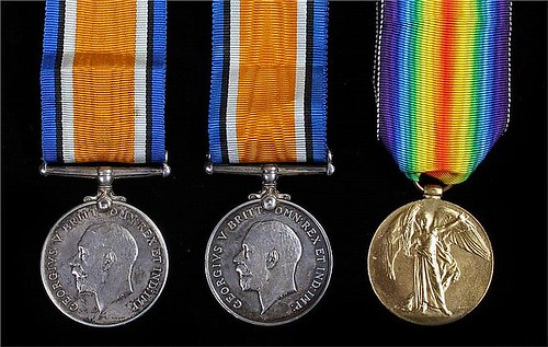 WWI medal group Private Deighton
