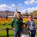 Ping, Wenji and Audrey at Buckingham Palace