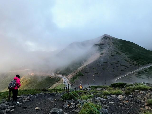 乗鞍岳 大黒岳から富士見岳