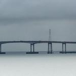 september rain over the san mateo bridge