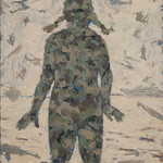 Kristi Hager; What Kind of Target am I; Oil on panel; 2008-2017; Represented by Goodwin Fine Art -
