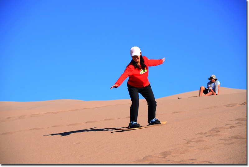 Sledding at Great Sand Dunes  (2)