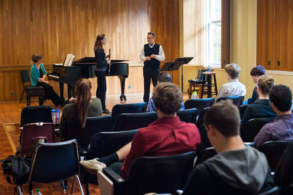 photo of music faculty candidate teaching a master class