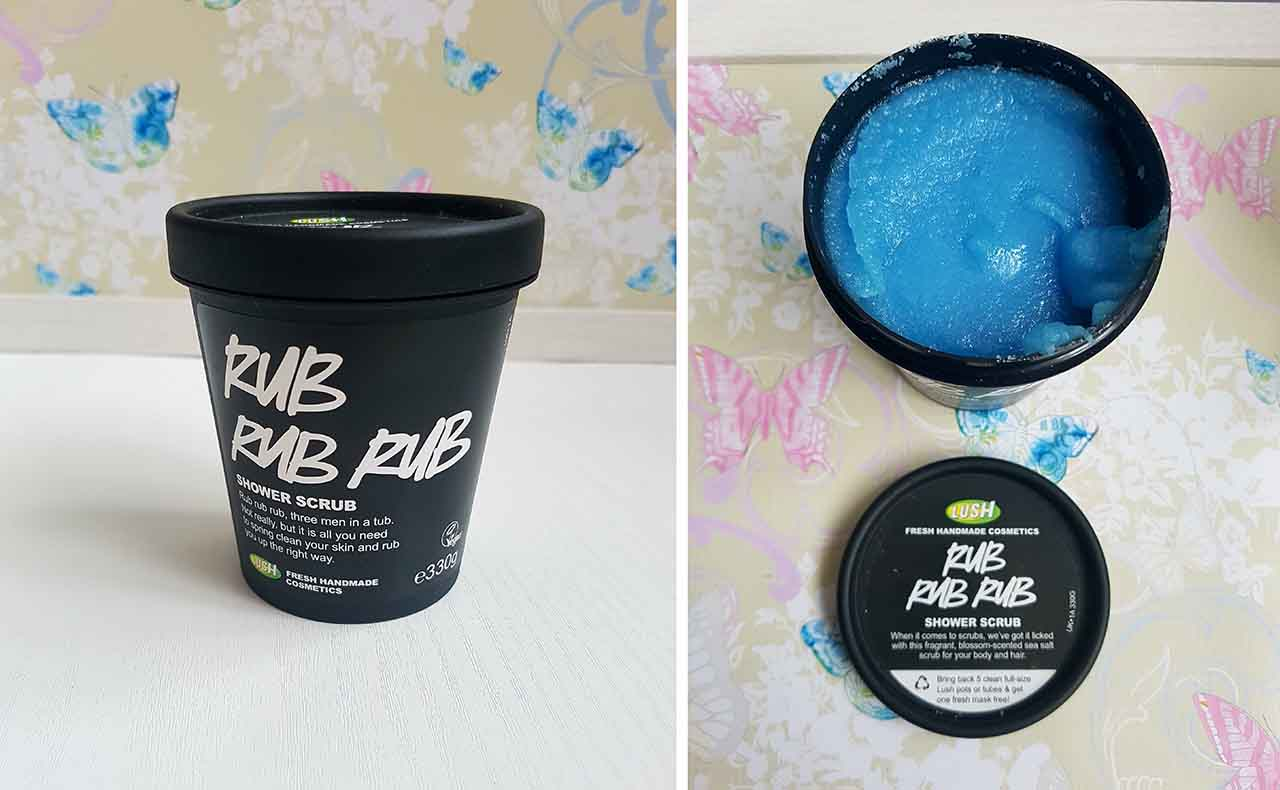 Lush Fresh Handmade Cosmetics – How Lush Are They: The Rub, Rub, Rub Shower Scrub - I love using scrubs on all parts of my body so I had to buy a body scrub from Lush to see how it would compare to other scrubs I have used. This one contains fine sea salt, mimosa absolute, fresh lemon juice and orange flower absolute. It's quite a loose scrub in consistency and wet as opposed to a more typical dry formula. It smells very fresh when you open the container and the texture is reasonably grainy but again not overly rough when applied to the skin. It can be used on wet or dry skin and also on hair! I have not used it on my hair yet as I did not realize I could until writing this post but will definitely try it! When I used it, a small amount will cover a good proportion of the body and it left my skin feeling refreshed, smooth and lightly scented. A definite keeper!