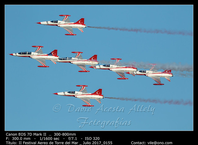 Aircraft Northrop F-5 Freedom Fighter of the Turkish Stars