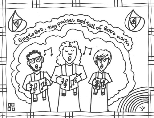 Psalm 105 coloring page