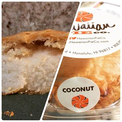 coconut mini pie morning❤︎ #hawaiianpieco #coconut #pie #kalihi #hawaii