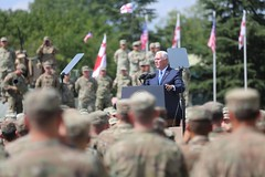 US Vice President met today with the service members participating in the Noble Partner multinational exercises