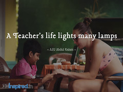 A Teacher's life lights many lamps