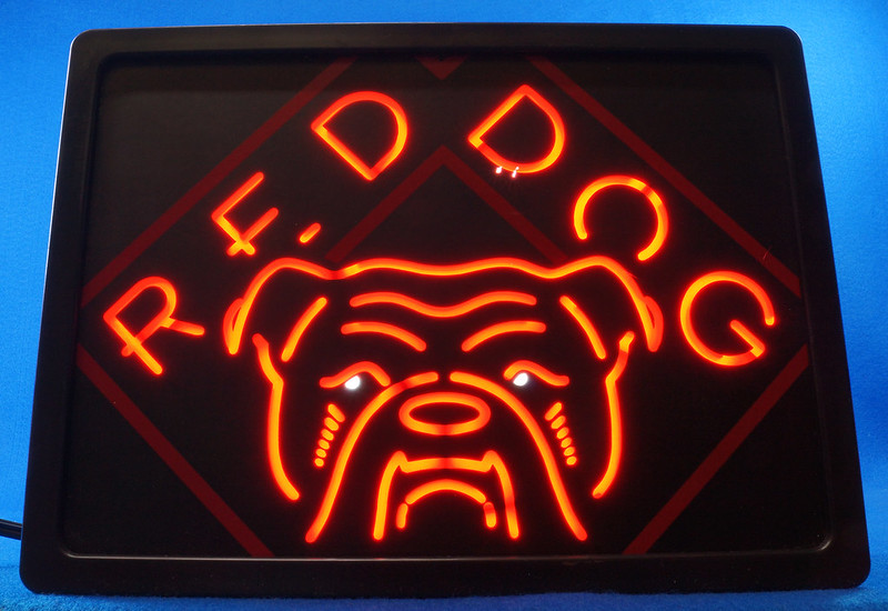 Man Cave Light Up Signs : Sold rare red dog beer light up sign man cave game room