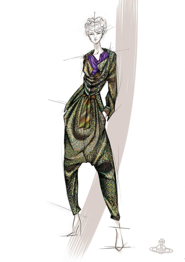 Vivienne Westwood Gold Label Autumn-Winter 2006/07. Illustration courtesy of the designer