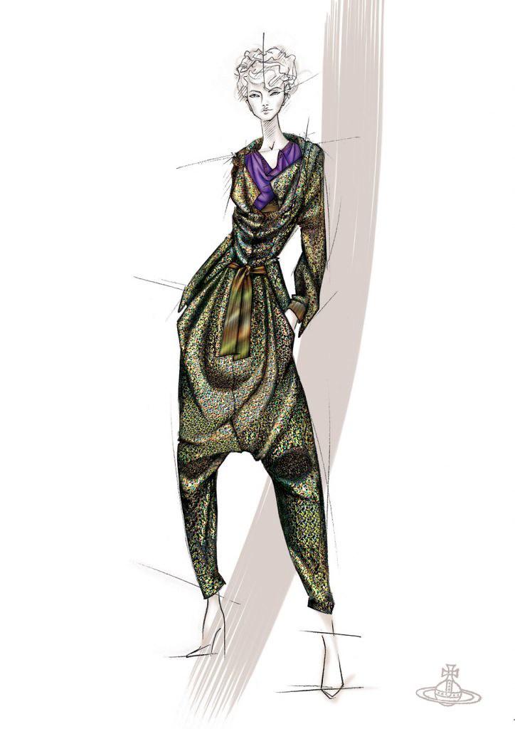 Vivienne Westwood Gold Label Autumn-Winter 2006/07. Illustration courtesy of the designer