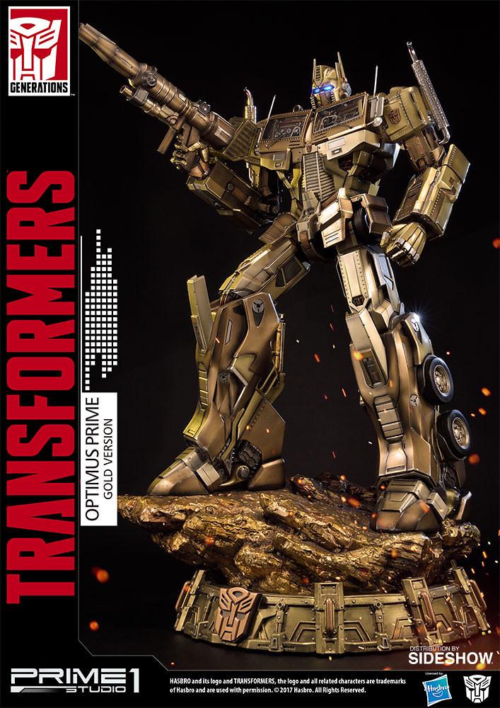 Prime 1 Studio 變形金剛【柯博文 金色版】Transformers Generation One Optimus Prime Gold Version 全身雕像作品