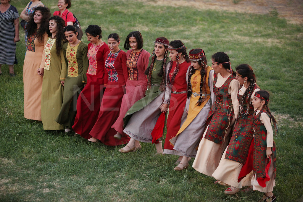 Traditional Armenian Wedding In Zvartnots Temple