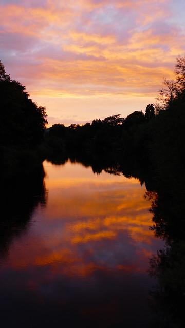 Sunset, River Wye, Hereford