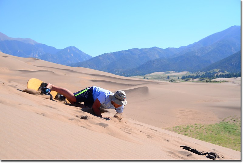 Sledding at Great Sand Dunes  (8)