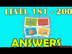 Pictoword Level 181 - 200 All Answers Walkthrough - Bug6d