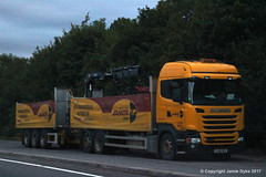 Eddie Stobart M702 - EU66WZK - CANUTE - A36 Warminster 14.08.17 (1)