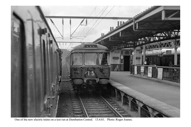 Dumbarton Central. One of the new electric trains. 13.4.61