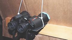 binoculars mounted on tripod