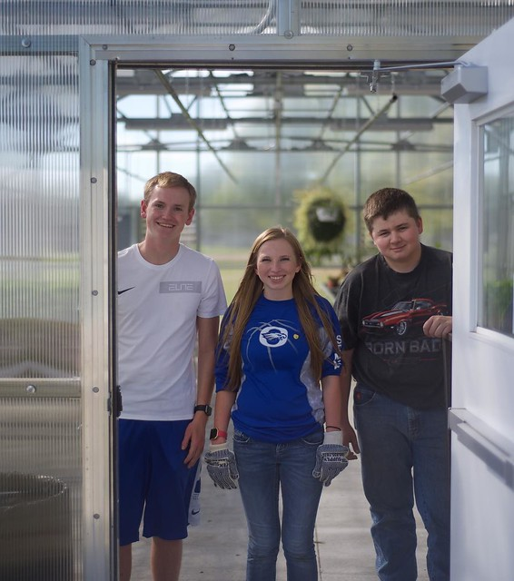 Photo:Aspiring horticulturists shared a great tour of the OHS-run Greenhouse #brightfutures #AgEducation #oeaglepride By Katie Morrow
