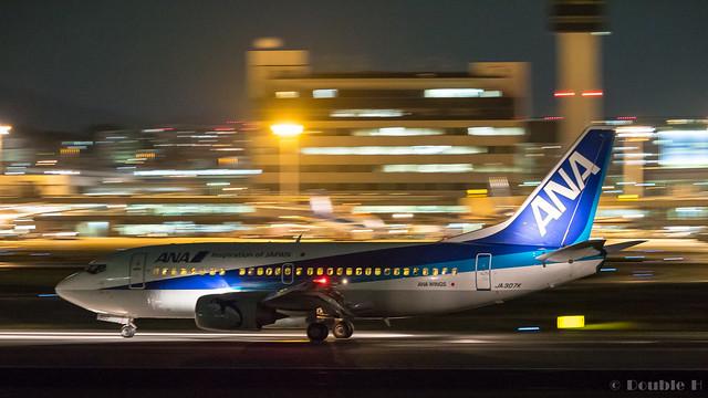Itami Airport 2017.9.28 (32) JA307K / ANA WINGS' B737-500