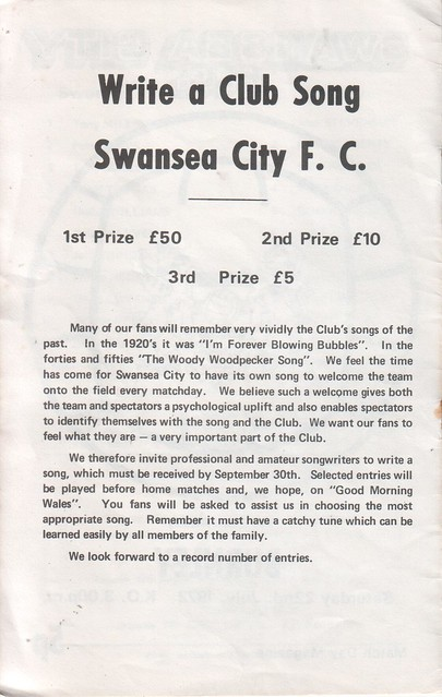1972-07-22    -2   Burnley (friendly) Wite a Club Song Swansea City FC