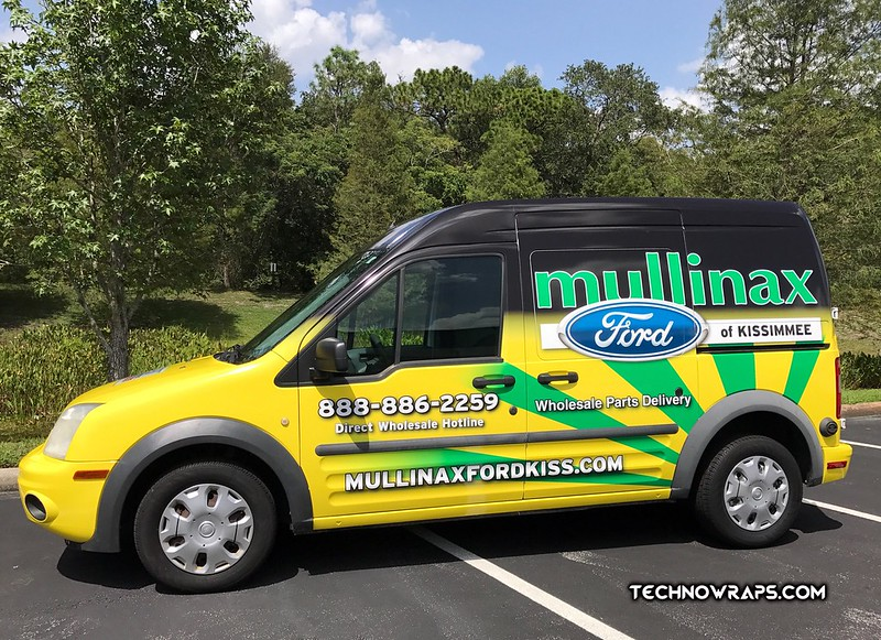 Mullinax Ford van wrap in Orlando by TechnoSigns