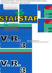 Daytona USA Dashboard Sticker. Restored Mikonos2