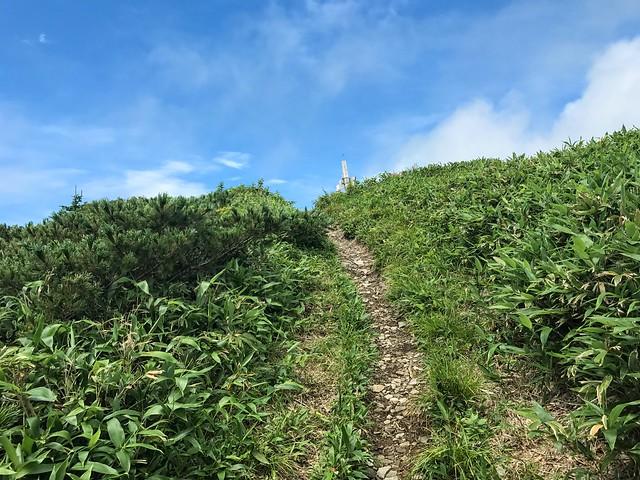 三ノ峰 直下 登山道