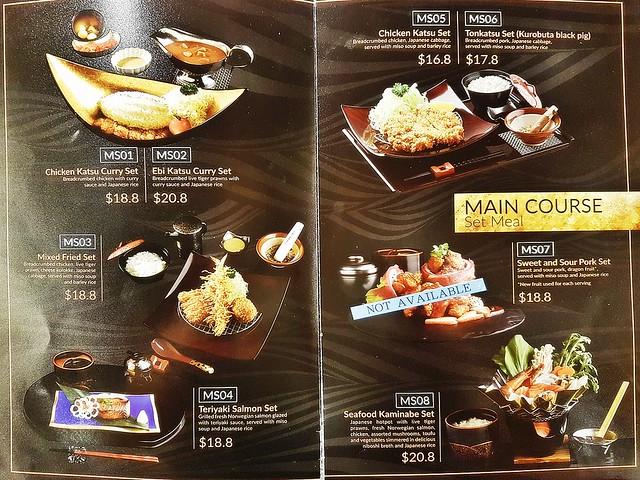 Misato Menu - Main Course Set Meals