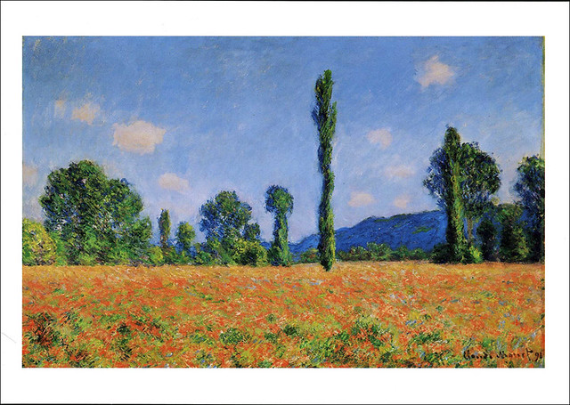 postcard - Monet - Poppy Field (Giverny) 1890 - Art Inst. Chicago