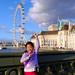 Audrey on Westminster Bridge