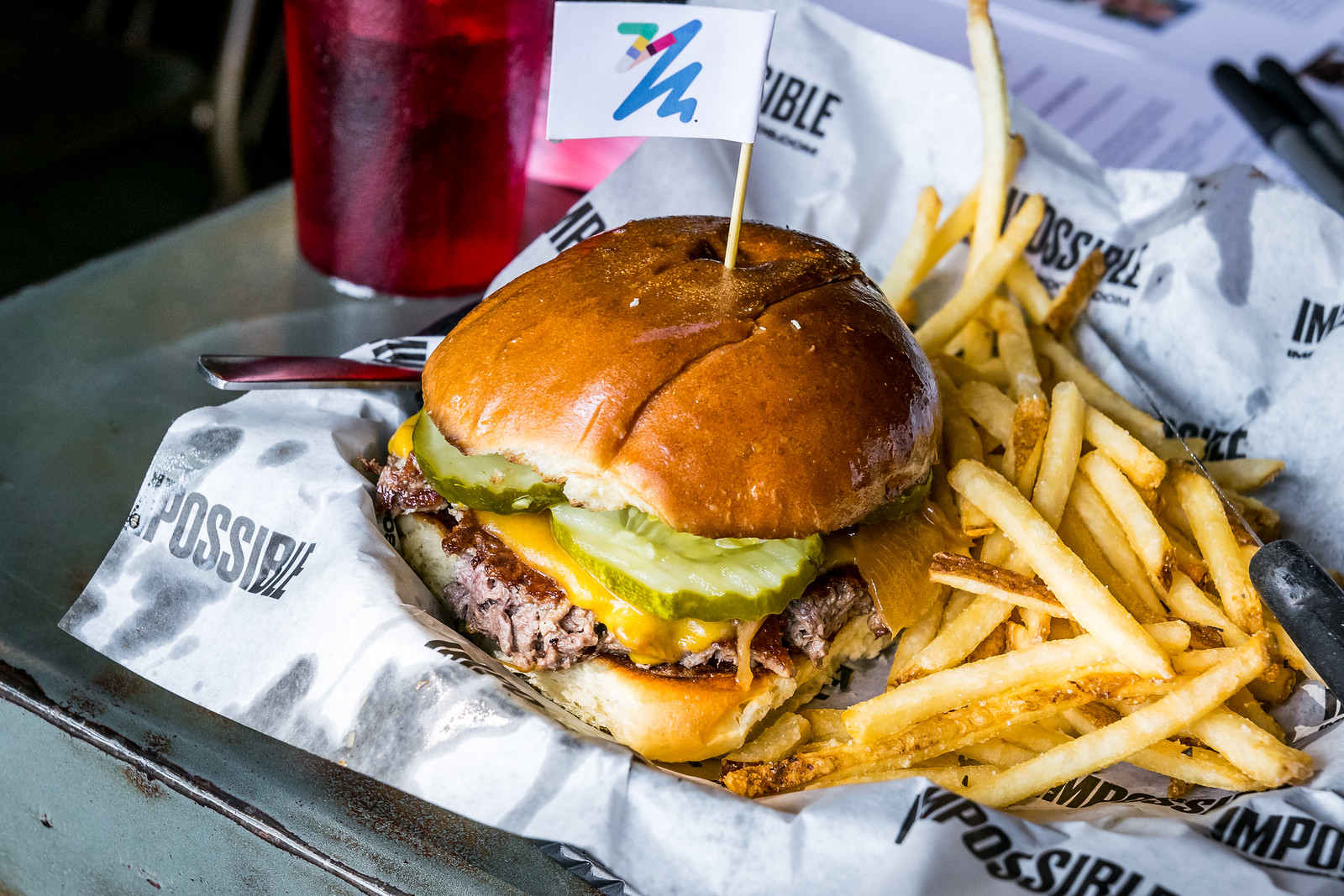 The Impossible Burger in all its glory