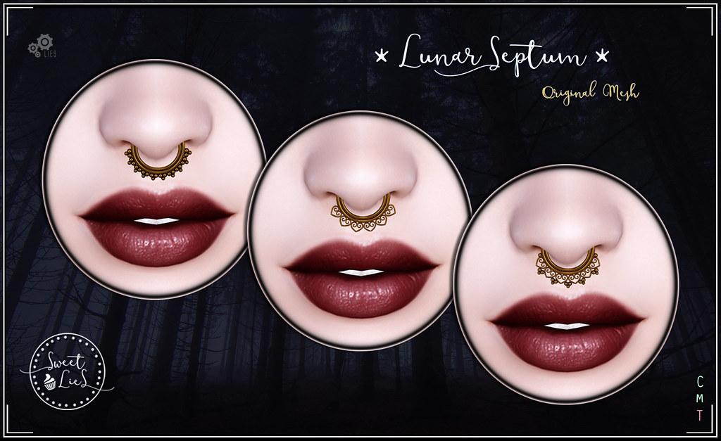Septum Gold Pack - Sweet Lies Original Sweet Lies Original in the Coven Lunar Festival. - SecondLifeHub.com