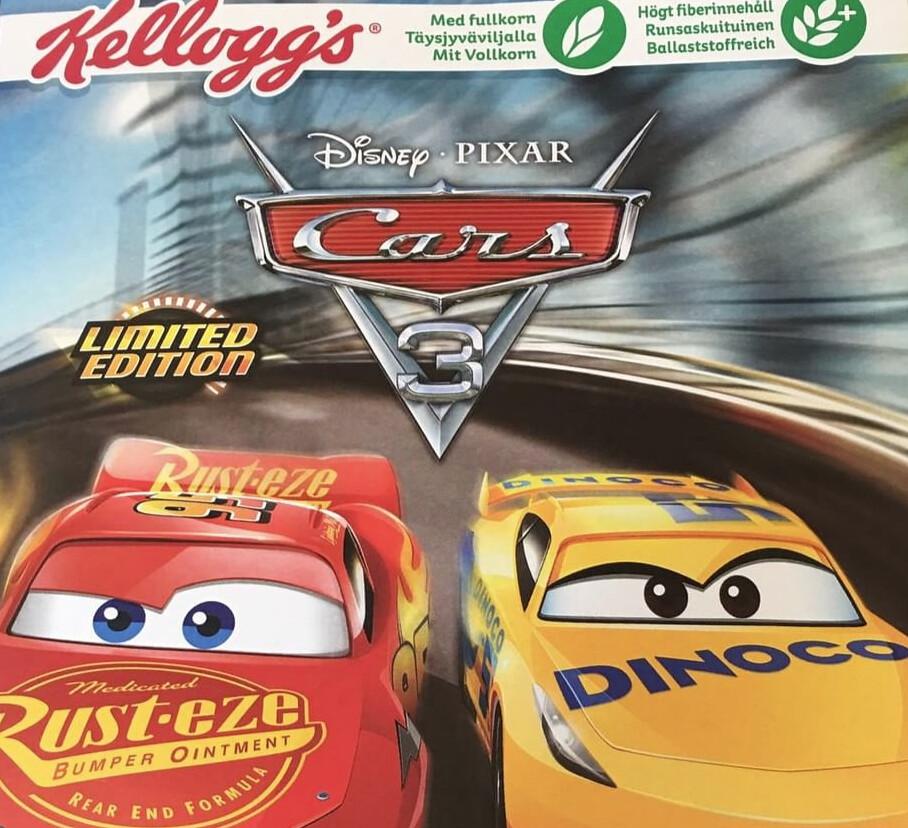 Kellogg's Disney & Pixar Cars 3 Cerealien - Deutsche Schachtel