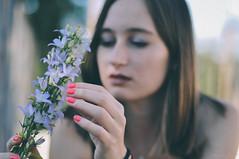 V and flower.