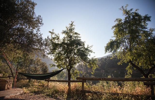 Amanecer en el camping de La Presa