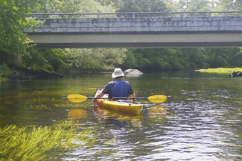 Frank approaching the Burdickville Road Bridge
