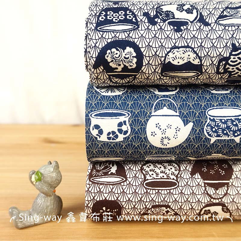 壺 瓷器 陶壺 壺光歲月 陶塑名壺  手工藝DIy拼布布料 CA450684